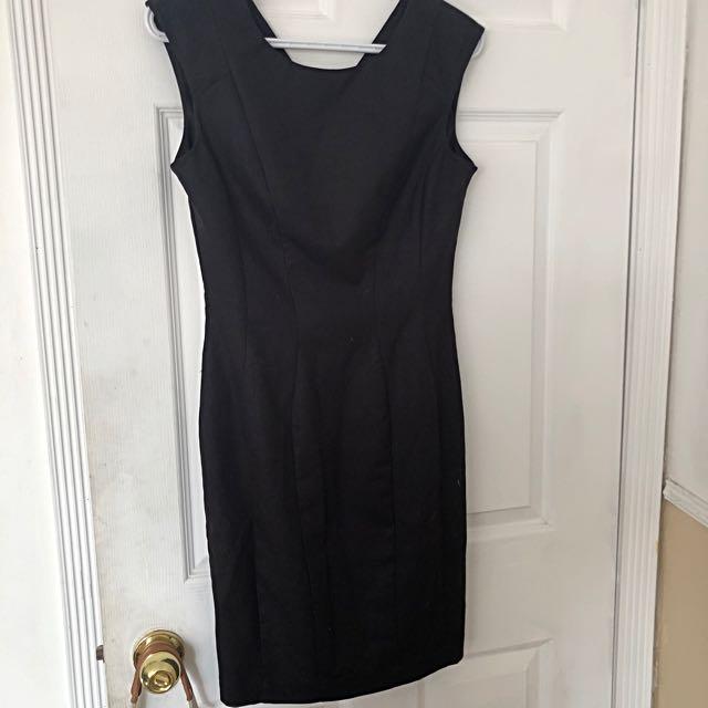 H&M black dress (business casual)