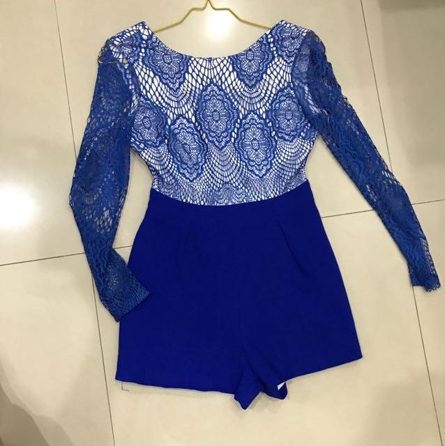 Jumpsuit elec blue