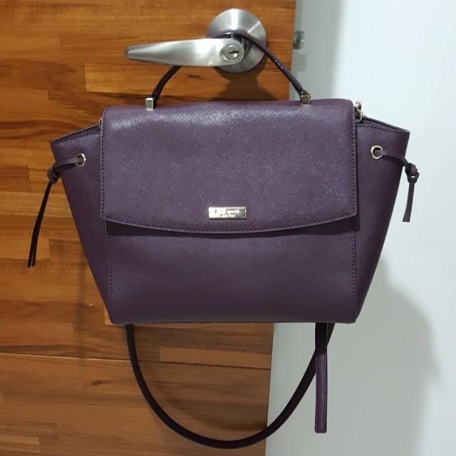 真品Kate spade 紫色防刮皮兩用包