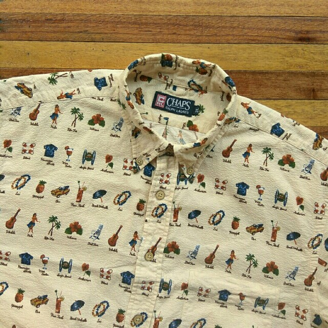 9d77cb7b Kemeja CHAPS Ralph Lauren Print Hawaiian Shirt Lengan Pendek, Men's  Fashion, Men's Clothes on Carousell