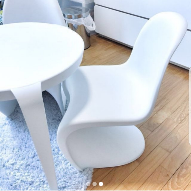 Designer Kids Children Panton Chair And Table Set, Home U0026 Furniture,  Furniture, Tables U0026 Chairs On Carousell