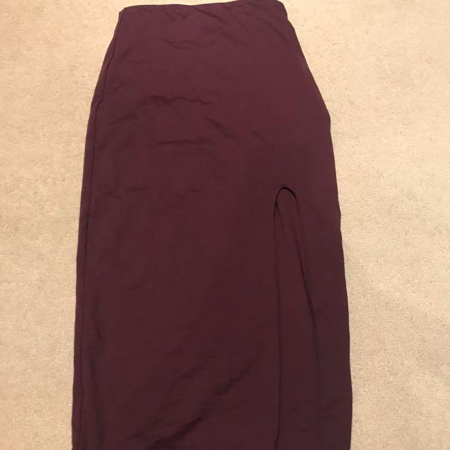 Kookai Maroon pencil skirt