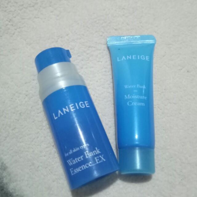 Laneige water bank essence & moisture cream