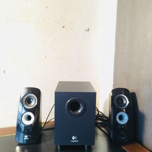 Logitech Z323 Chanel Computer Speaker System Black