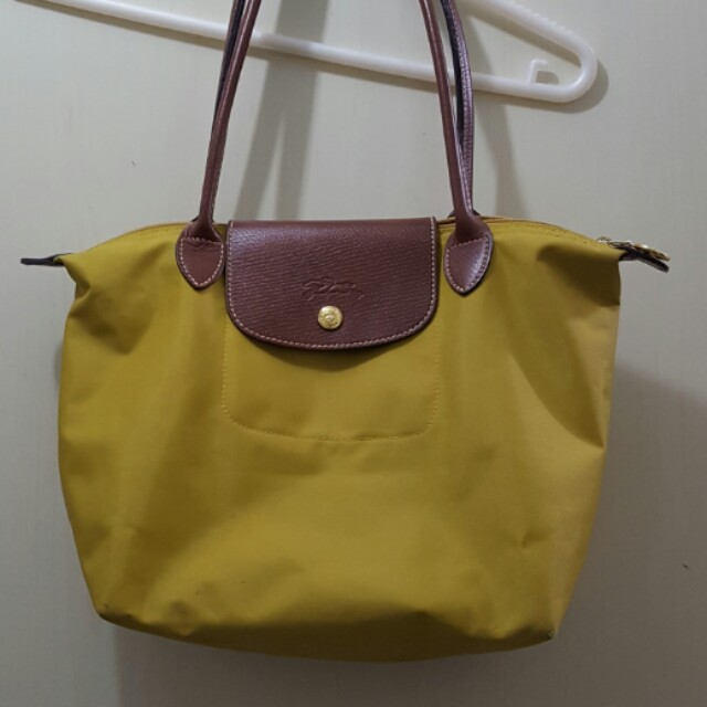 Limited Portable Longchamp Cosmetic Bags Curry