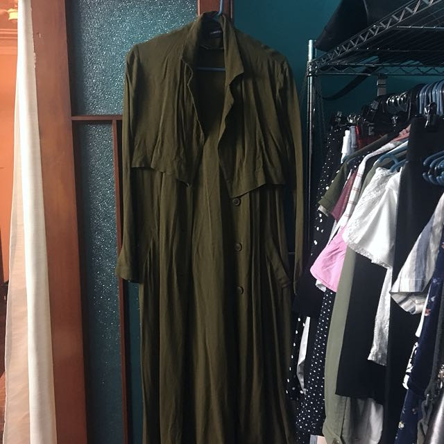 Minkpink Olive Trench Coat