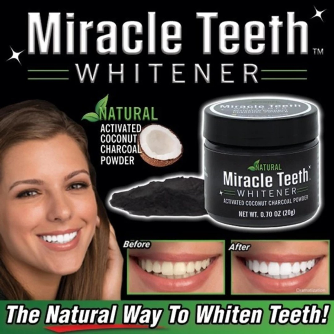 MIRACLE TEETH WHITENER 100% Micronized Activated Charcoal