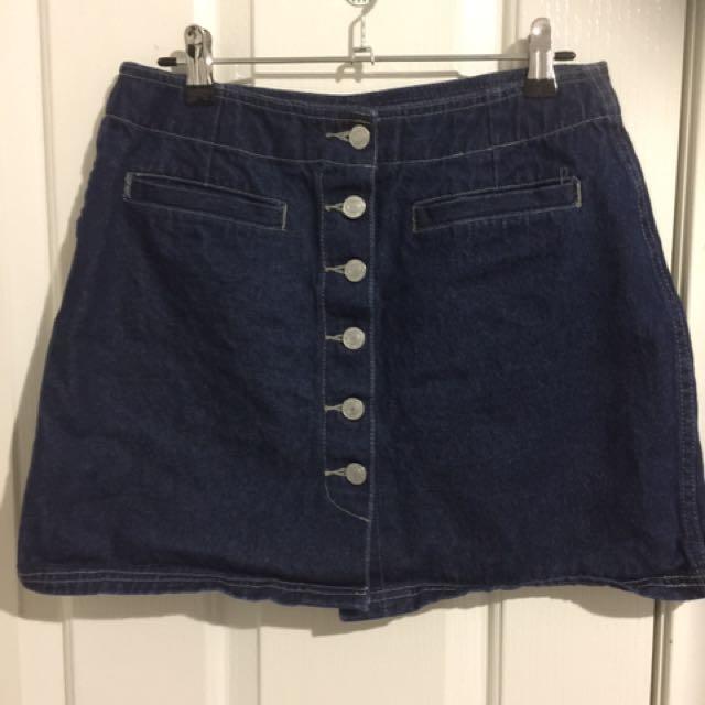 Miss Selfridge denim skirt