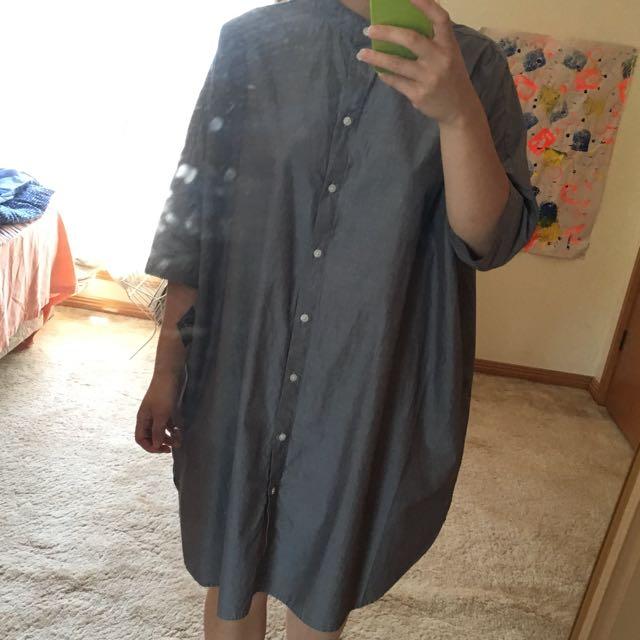 Muji Oversized Shirt Dress