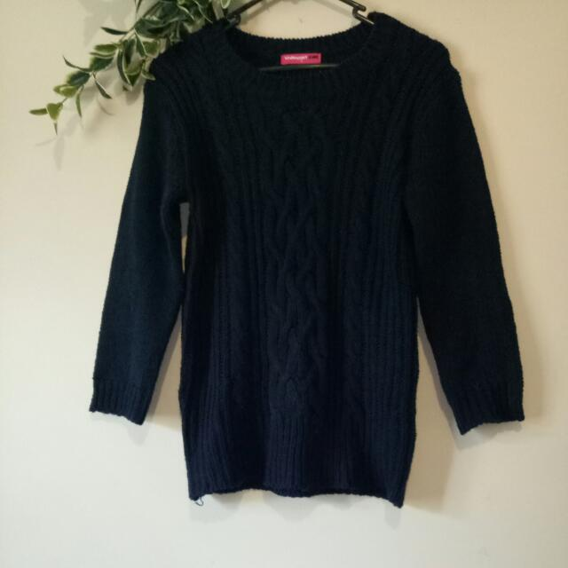 Navy Blue Knitted Jumper