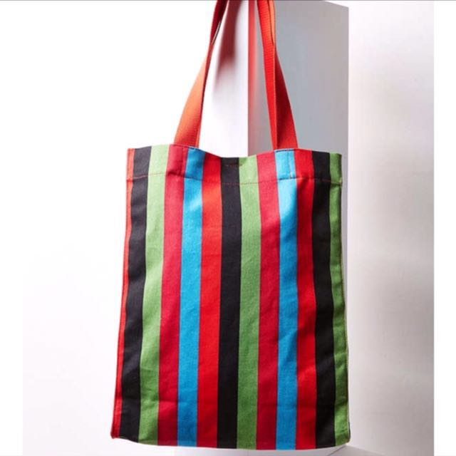 """[NEW - BNWT] - """"Urban Outfitters"""" Multi-Colour Stripes Tote Bag"""
