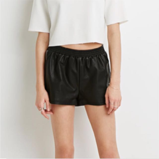 New F21 Leather Shorts