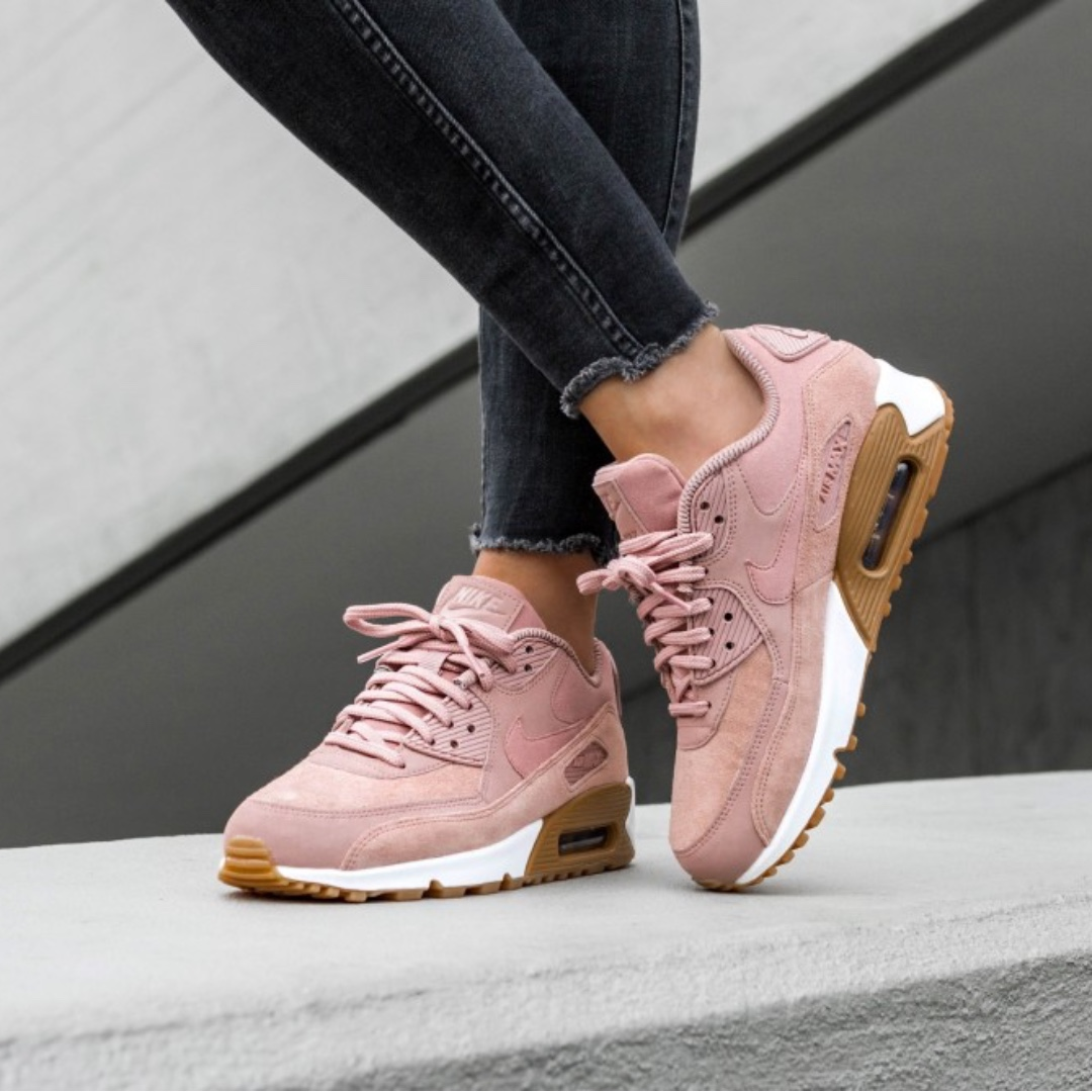 san francisco f3d2d 73161 ... hot nike air max 90 suede particle pink womens fashion shoes on  carousell 6596e 863ec