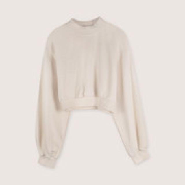 Oak + fort mock neck blouse