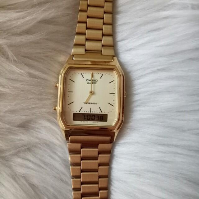 Preloved Casio Dual-Time Vintage Watch