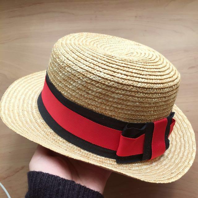Puree 正韓緞帶草帽