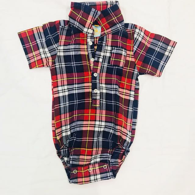 Red checkered onesies