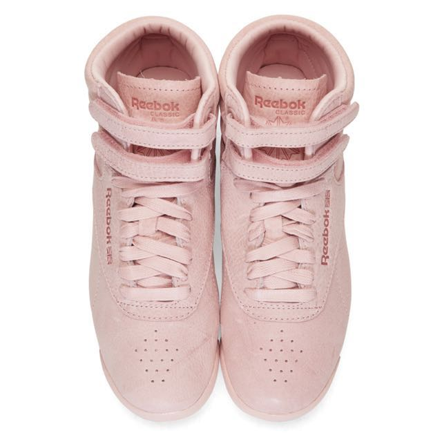 Reebok Classics pink Freestyle high top sneakers