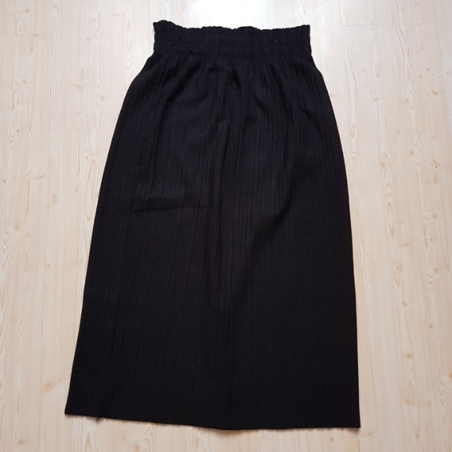 Rok panjang hitam black long skirt