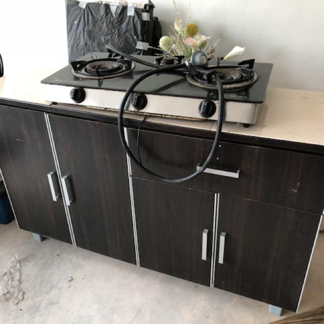 Kitchen Cabinet And Stove Kabinet Dapur Liances On Carou