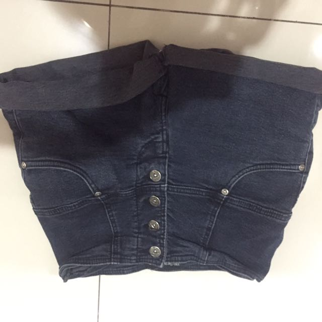 Short jeans celana pendek high waisted