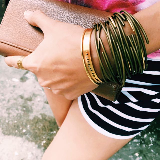 Simple Thin Brass Bangles in Vintage
