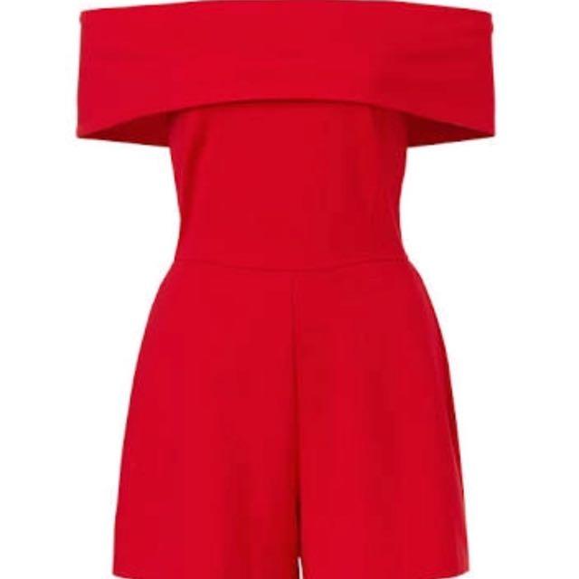 Sportsgirl Red Playsuit