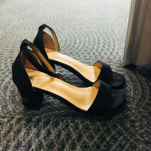 Strappy Chunky Heels- Sale!