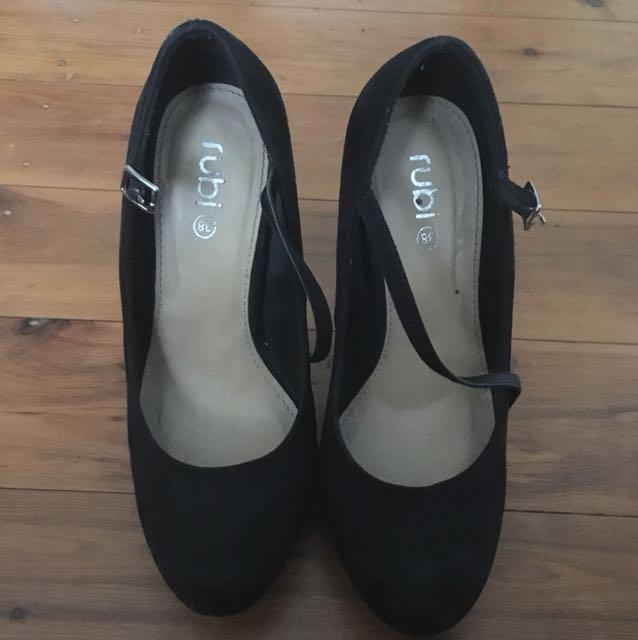 Suede Heels w/ ankle strap