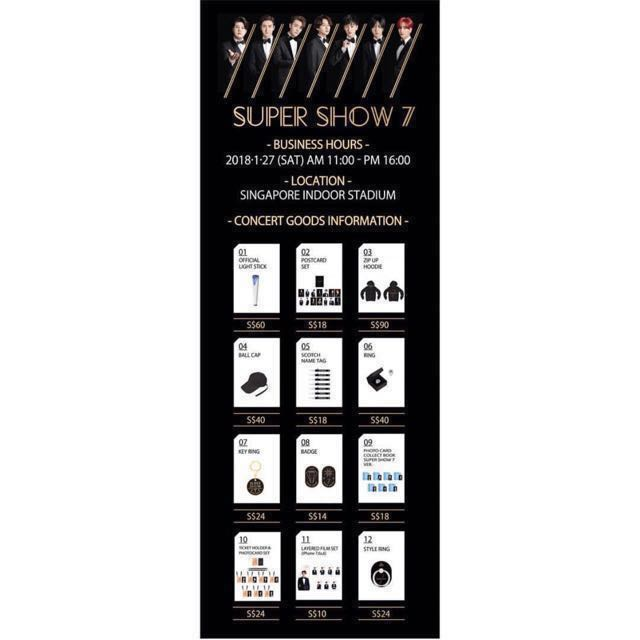 SUPER JUNIOR SUPER SHOW 7 OFFICIAL MERCH SUJU SS7 HELPING TO BUY