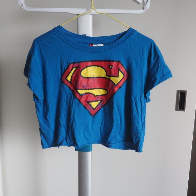Superman Logo Crop Tshirt