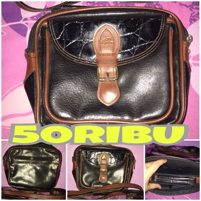 Tas Black Brown Vintage