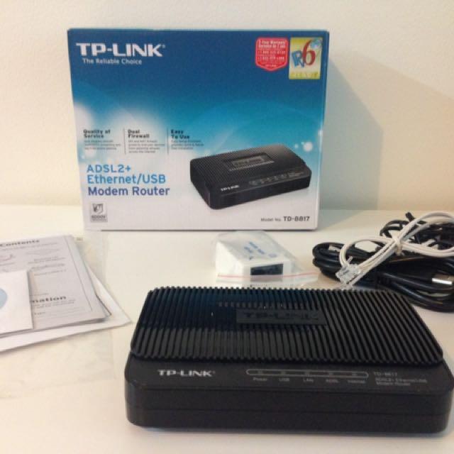 TP-LINK TD-8817 ADSL2+ modem router