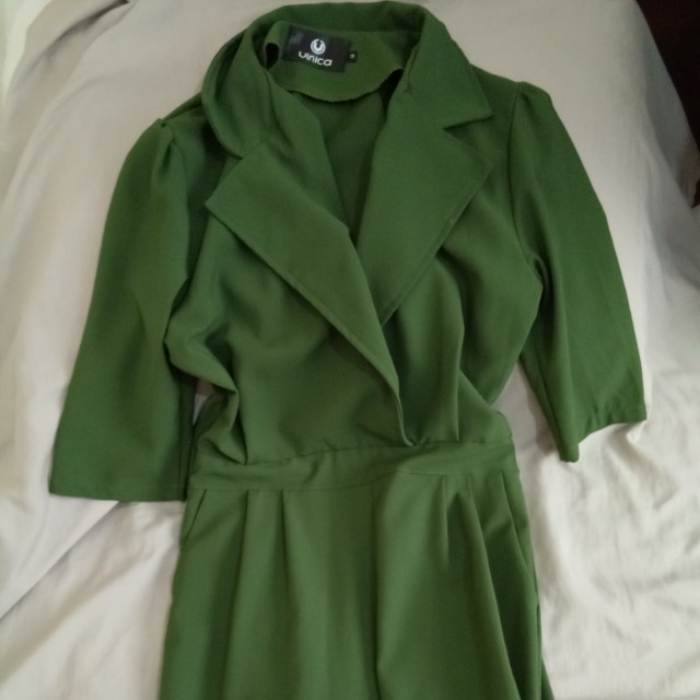 Unica moss green jumpsuit