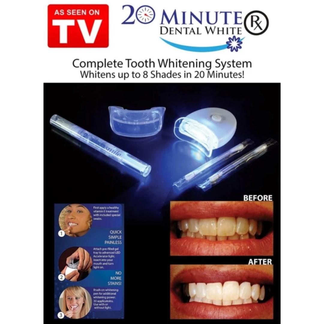 White Light Teeth Whitening Gel Super Bright System Oral Dental Care