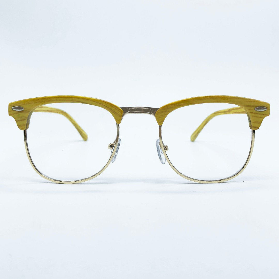 Wood Clubmaster Specs Glasses Frame, Men\'s Fashion, Accessories on ...