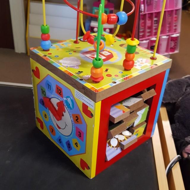 Wooden Activity Cubes $15 each