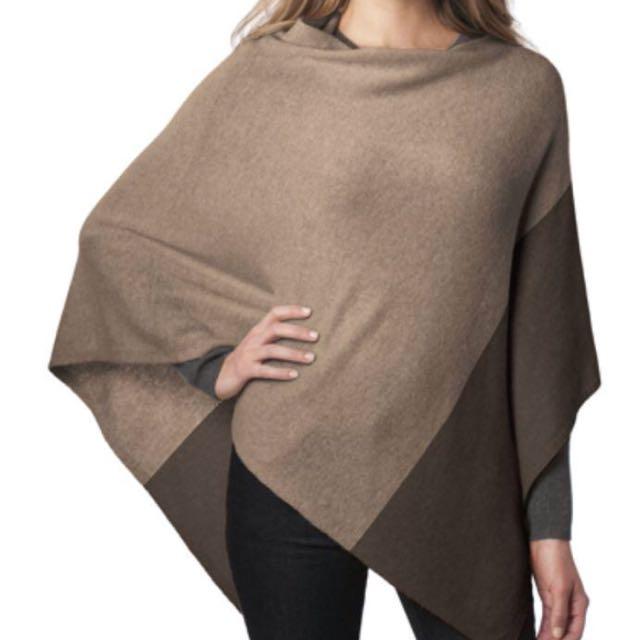 Wool/cashmere poncho