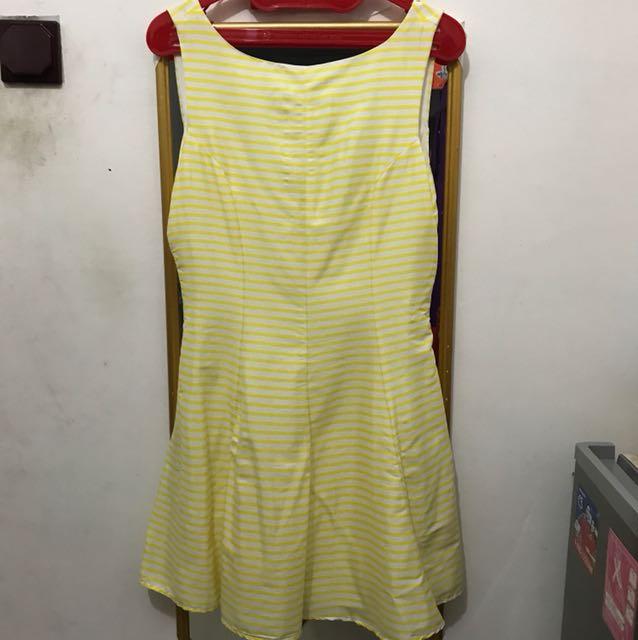 Yellow stripe dress