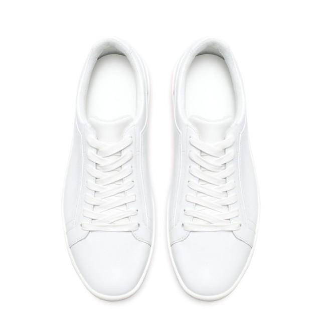 Zara Ladies White Leather Sneakers