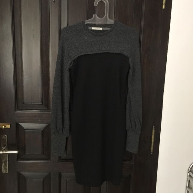 Zara long sleevs mini dress