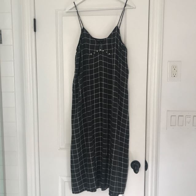 Zara's plaid dress