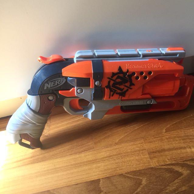Zombie Hammershot Orange Nerf Gun Toys Games Bricks Figurines