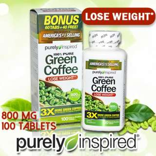 🚚 For lose Weight! Purely Inspired Green Coffee 800 mg 100 Tablets