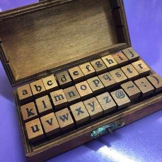 Complete Stamp Alphabet Set