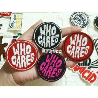 Patches Iron On WhoCares