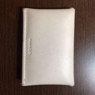 MANGO Card wallet white beige