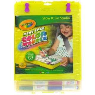 ~BNIP~ Crayola Stow & Go Studio