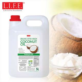 F&B Extra Virgin Organic Cold Pressed Coconut Oil VCO 5L 有機冷壓初榨椰子油 5公升