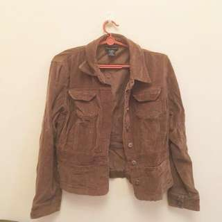 Brown Ribbed Jacket